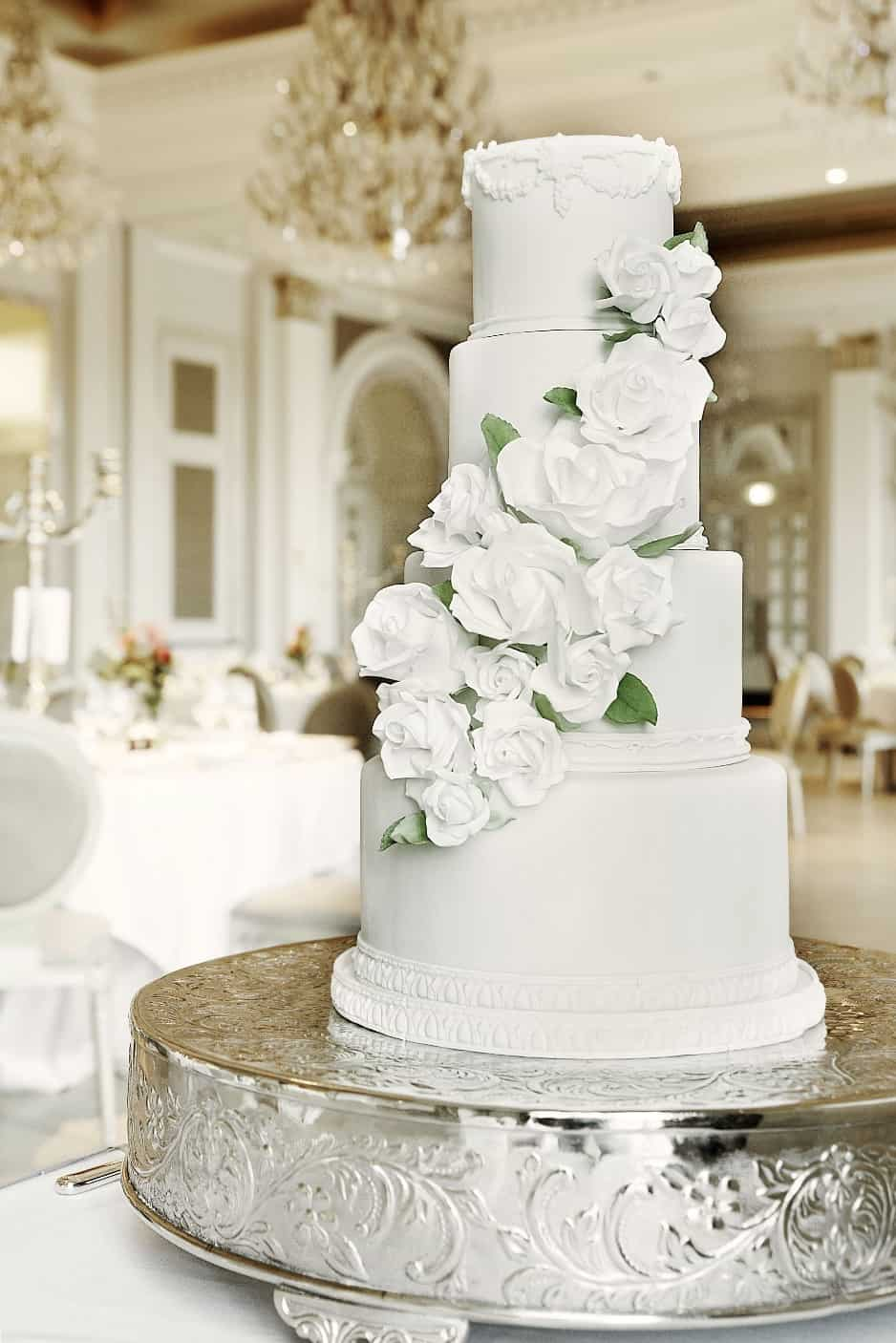 Adare Manor White Rose Wedding Cake MMCookies