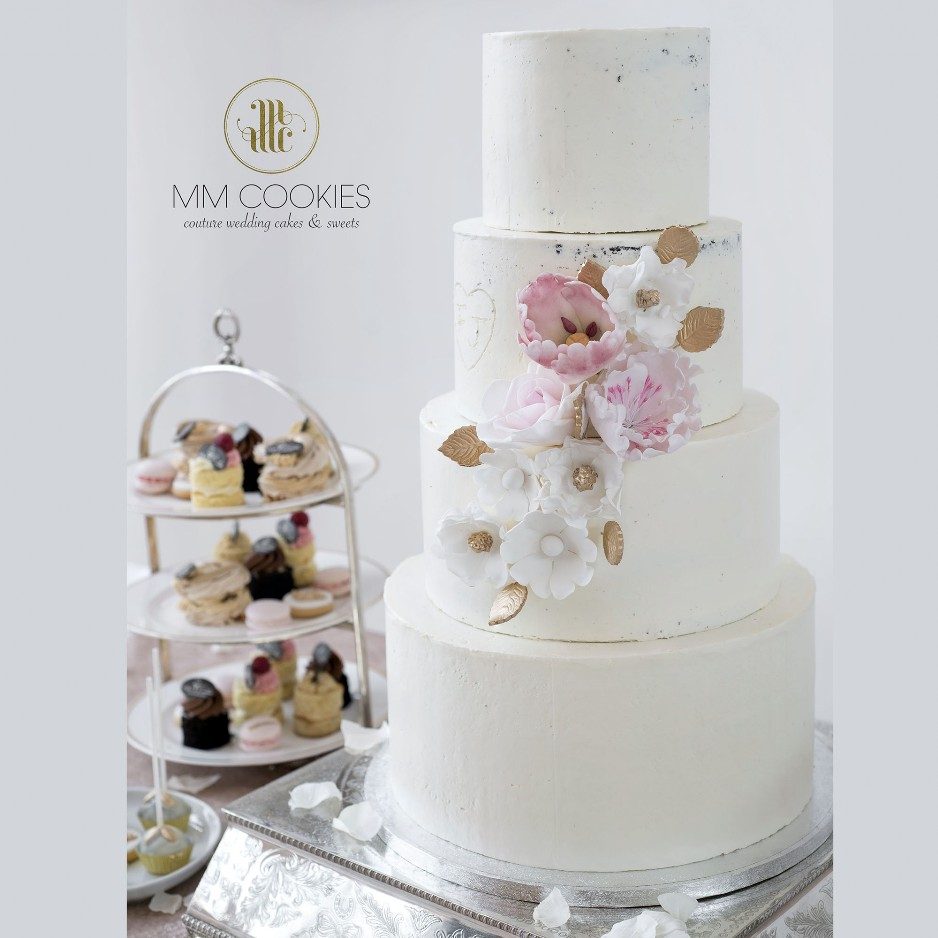 Semi Naked Wedding Cake and deserts